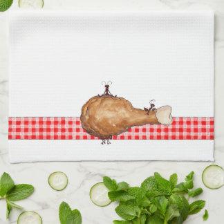 Hormigas y pollo - toalla de cocina