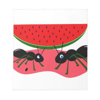 Hormigas y sandía blocs de notas