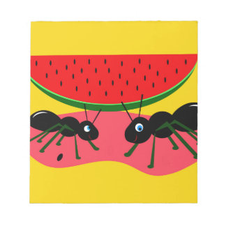 Hormigas y sandía libreta para notas