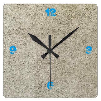 Hormigón adaptable reloj cuadrado