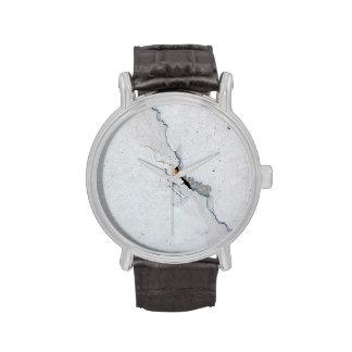 Hormigón agrietado reloj
