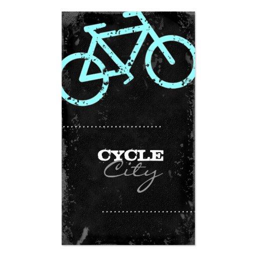 Hormigón de la ciudad del ciclo de la tarjetas de visita