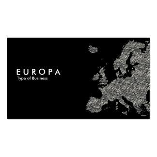 Hormigón del EUROPA - negro Plantilla De Tarjeta De Visita