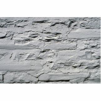 Hormigón gris con los ladrillos expuestos fotoescultura vertical