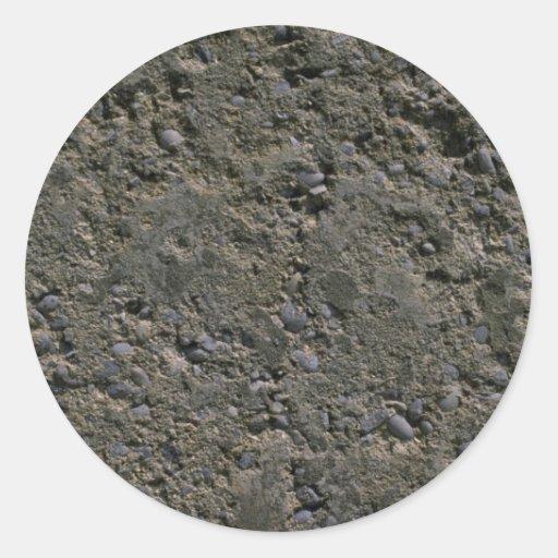 Hormigón marcado con hoyos pegatinas redondas