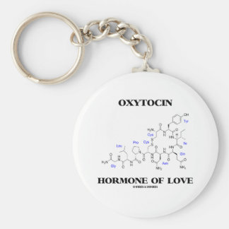 Hormona de la oxitocina del amor (química) llavero redondo tipo pin
