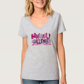 Hormonally Challenged Pink XL Tshirt