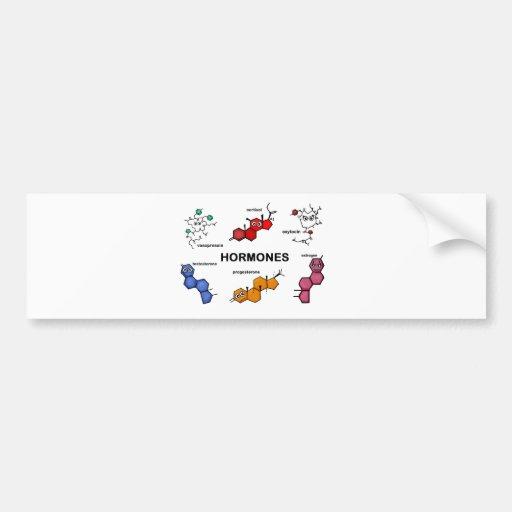 Hormones Car Bumper Sticker