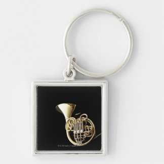 Horn 2 Silver-Colored square keychain