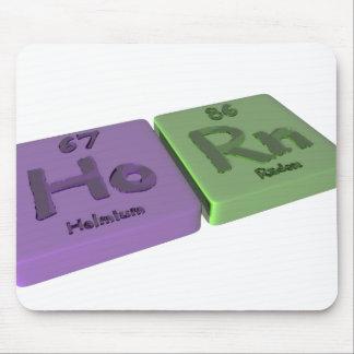 Horn as Ho Holmium and Rn Radon Mouse Pad