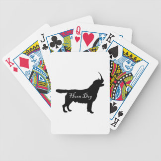 Horn Dog Bicycle Playing Cards