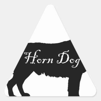 Horn Dog Triangle Sticker