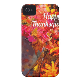 Horn of plenty with flowers to Thanks iPhone 4 Case