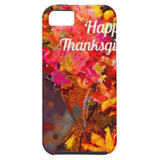 Horn of plenty with flowers to Thanks iPhone SE/5/5s Case