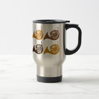 Horn Quartet 4 horn 15 Oz Stainless Steel Travel Mug