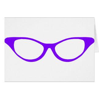 Horn Rim Glasses Card