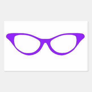 Horn Rim Glasses Rectangular Sticker