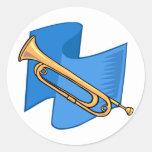 Horn Round Sticker