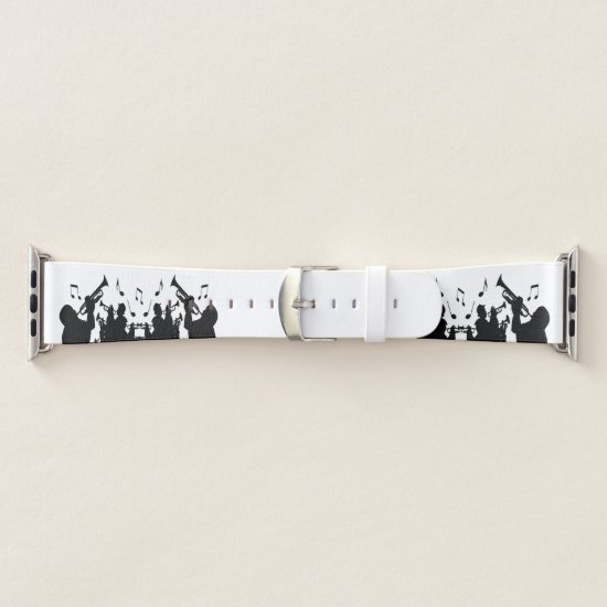 Horn Section Music Design Apple Watch Band