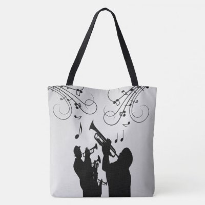 Horn Section Music Design Tote Bag