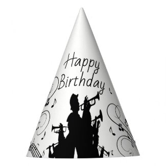 Horn Section Trumpet Jazz Music Birthday Party Hat