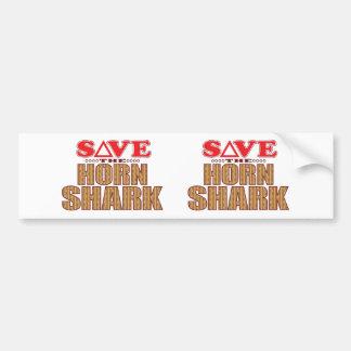 Horn Shark Save Bumper Sticker