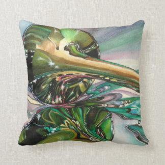 Horn Watercolor Painting Pillow