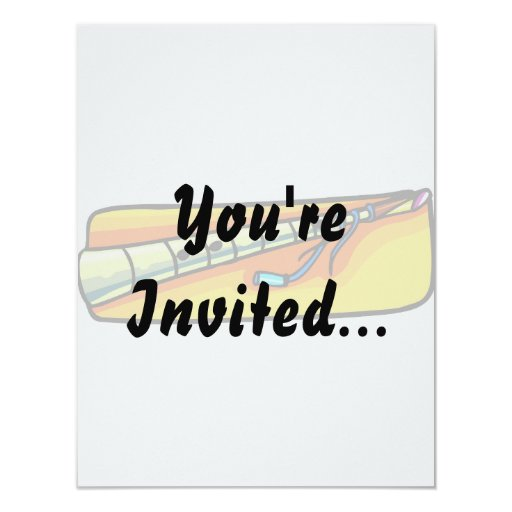 Horn wind instrument graphic 4.25x5.5 paper invitation card