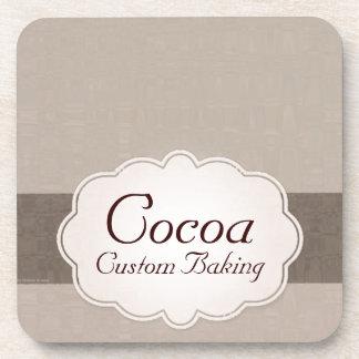 Hornada de encargo del cacao posavasos de bebidas