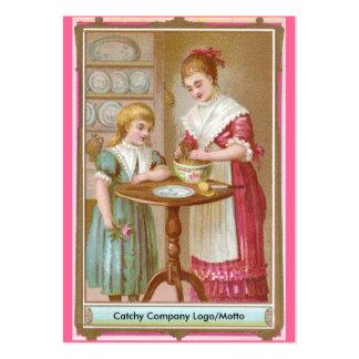 Hornada de la madre y de la hija del Victorian Plantillas De Tarjeta De Negocio
