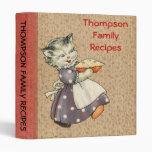 Hornada del gato w/Pie del arte del vintage y coci