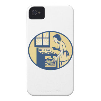 Hornada del panadero del ama de casa en la estufa Case-Mate iPhone 4 protector