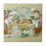 Hornada del vintage con la publicidad del chocolat azulejo