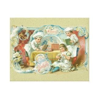 Hornada del vintage con la publicidad del chocolat lona estirada galerías