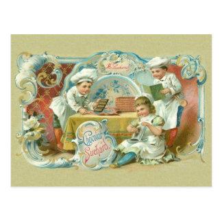 Hornada del vintage con la publicidad del chocolat postal