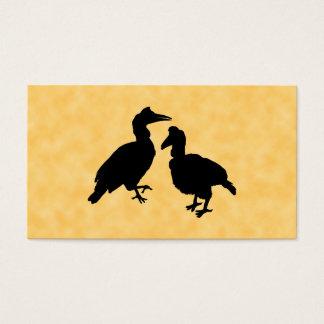 Hornbill Birds. Business Card