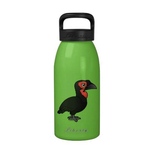 Hornbill de tierra meridional de Birdorable Botallas De Agua