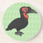 Hornbill de tierra meridional de Birdorable Posavasos Diseño