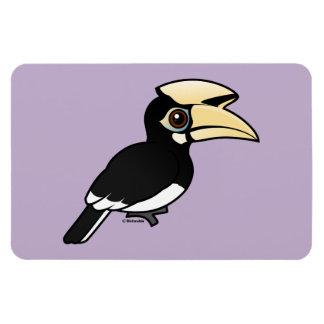 Hornbill de varios colores oriental imanes flexibles