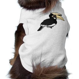 Hornbill de varios colores oriental playera sin mangas para perro