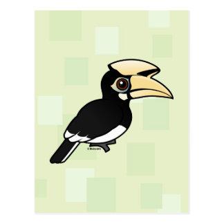 Hornbill de varios colores oriental postal