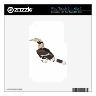 hornbill decal for iPod touch 4G