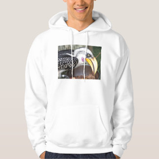 hornbill in food dish close up hoodie