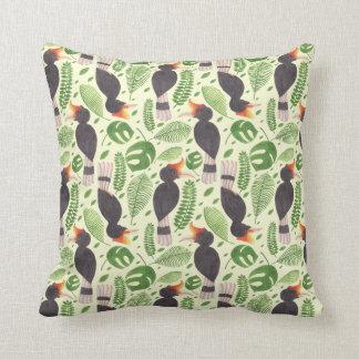 Hornbill the Tropical Bird Throw Pillow