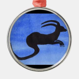 Horned Beast Metal Ornament