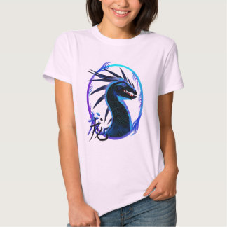Horned Black Dragon and Symbol T-Shirts