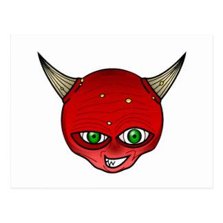 Horned demon postcard