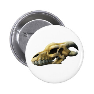 Horned Dragon Skull 2 Inch Round Button