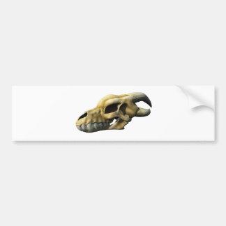 Horned Dragon Skull Bumper Sticker