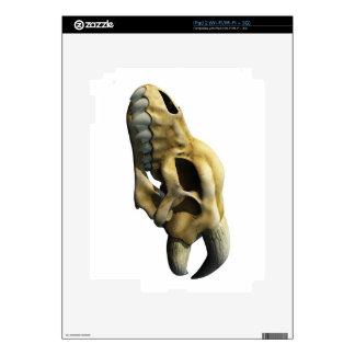 Horned Dragon Skull iPad 2 Decals